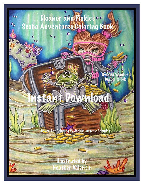 Eleanor and Pickles Scuba Adventures Instant Download Coloring Book