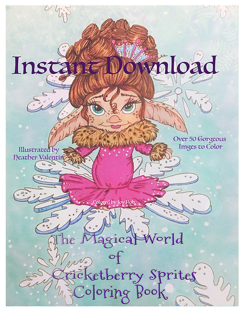 The Magical Crickebeerry Sprite Instant Download Coloring Book