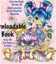 HobGobbies and Sunshine Trolls Instant Download Coloring Book