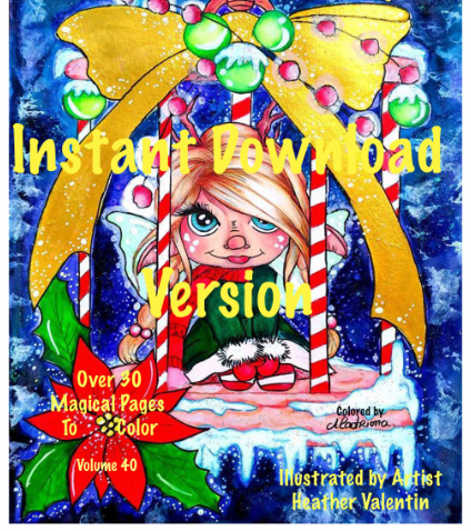 Heather Valentin's Enchanted World Instant Download Coloring Book