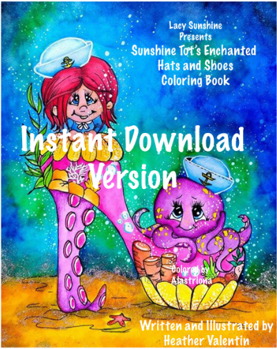 Sunshine Tots Enchanted Hats and Shoes Instant Download Coloring Book