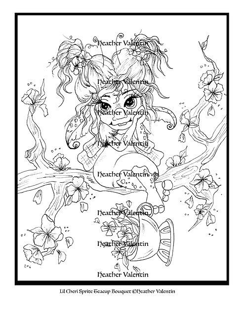 Lil Cheri Sprite Teacup Bouquet
