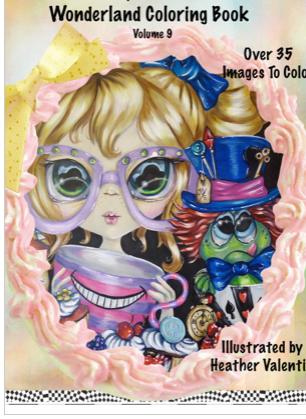 Heather Valentin's Wonderland Instant Download Coloring Book