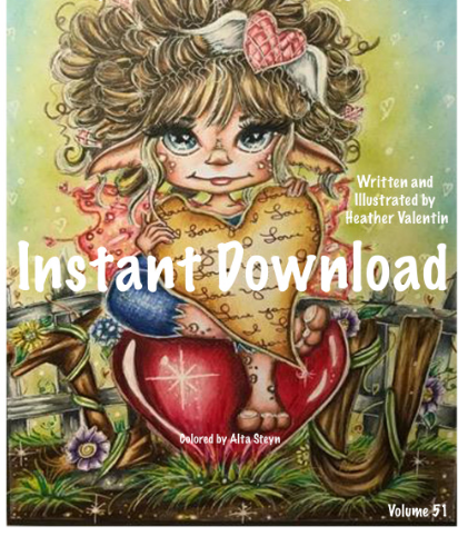 Heather Valentin's LOVE Instant Download Coloring Book