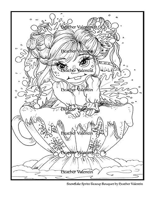 Snowflake Sprite Teacup Bouquet