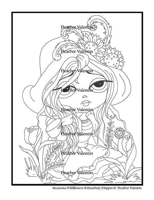 Anastasia Wildflowers Melancholy Moppet