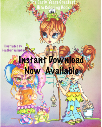 Heather Valentin's The Early Years Greatest Hits Instant Download Coloring Book