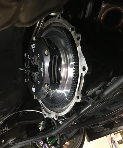 Pictured Tilton Triple plate clutch shown