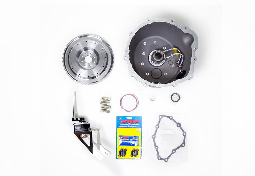 CD Pro Bellhousing and included parts, CD999 shifter, Multi flywheel, ARP hadware, Gasket, Seal, Pilot Bushing