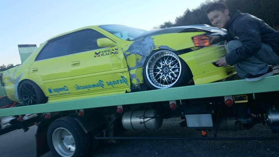 Yuhei JZX100 crash