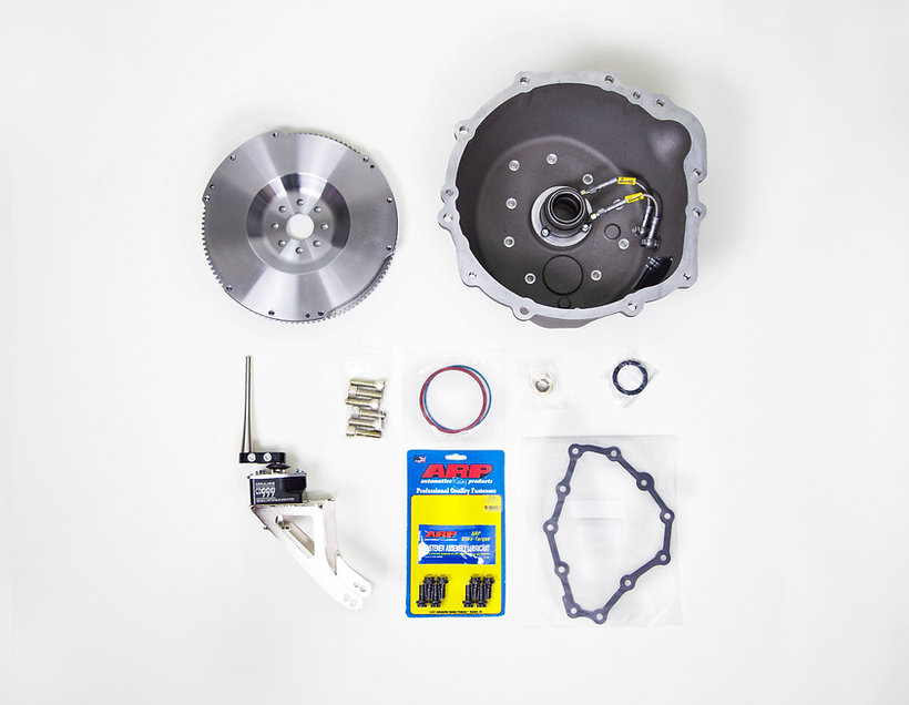 CD Pro Bellhousing and included parts, CD999 shifter, Single flywheel, ARP hadware, Gasket, Seal, Pilot Bushing