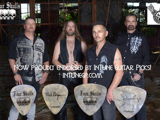 Four Skulls now endorsed by Intune Guitar Picks!