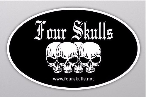 Four Skulls Sticker