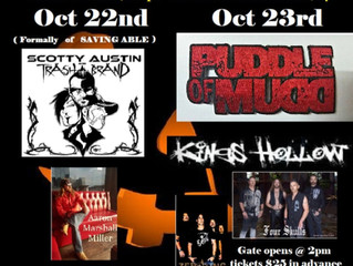 Four Skulls to open for Puddle of Mudd!