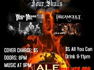 Four Skulls, Dreamcult, When Fair Means Fail Live!