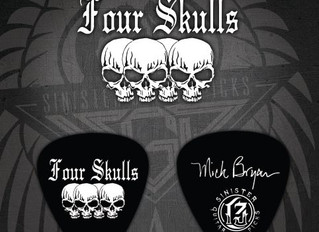 Sinister Guitar Picks Welcome Four Skulls