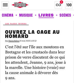 Libération L'incroyable histoire du homard qui sauva sa carapace Thomas Gerbeaux