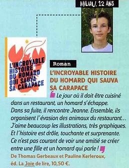 Geo Ado Incroyable histoire du homard
