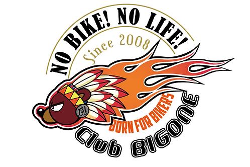 Club BIGONEロゴステッカー(車用)
