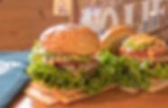 BIGONEのハンバーガー