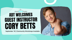 Workshops! Workshops! ADT Welcomes Guest Artist Cory Betts!