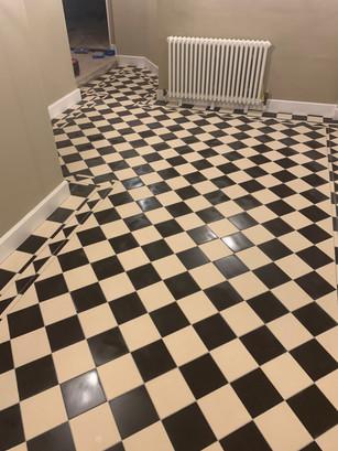 Checked flooring