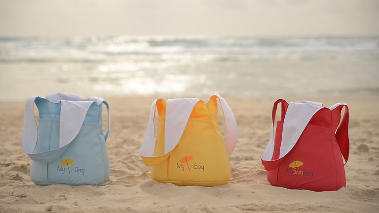 My Sun Bag Industrial design Textile design soft materials Products soft goods Products Helek Studio