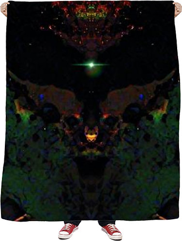 Alien Anger Wall Tapestry