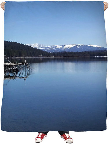 Driftwood On The Lake Wall Tapestry