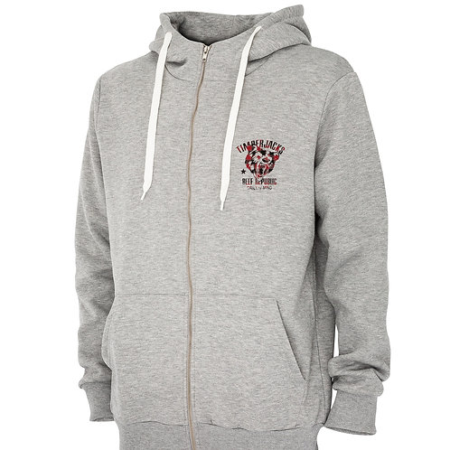 Zipper Hoodie Grizzly Grey Check