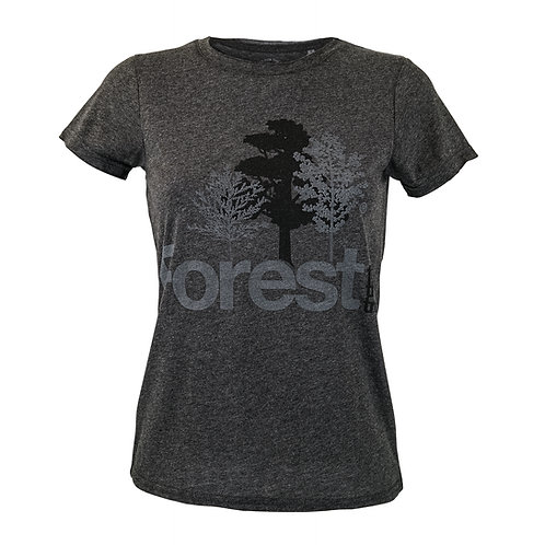 T-Shirt Forest for the trees Woman Charcoal