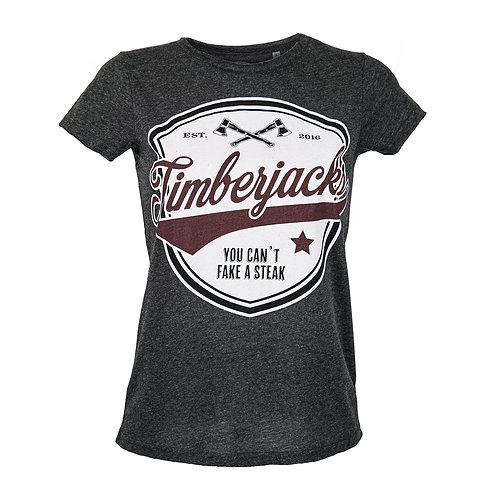 T-Shirt Cant Fake Woman Charcoal
