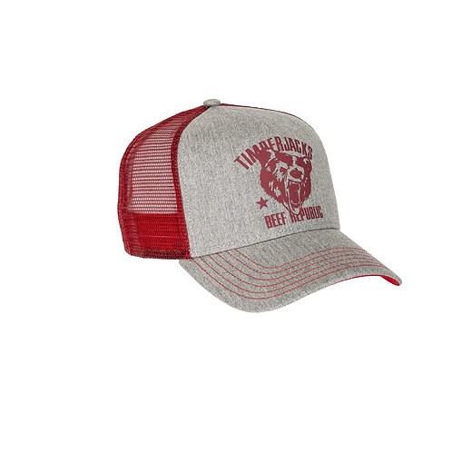 Basecap Grizzly Grey/Red