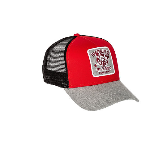 Basecap Grizzly Red/Black
