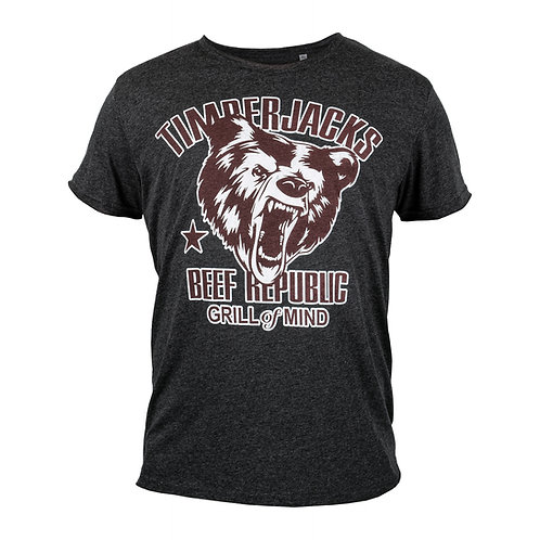 T-Shirt Grizzly Man Charcoal