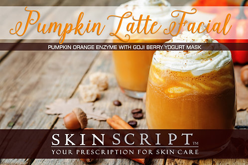Pumpkin Latte Facial Treatment