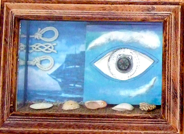 """SURREAL EYES ON BEACH"" (LEFT)"