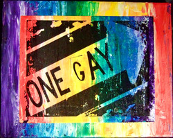 """""""ONE GAY STREET SIGN"""""""