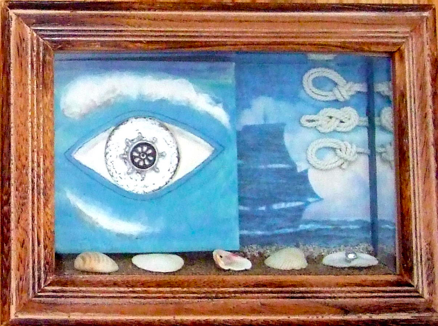"""SURREAL EYES ON BEACH"" (RIGHT)"