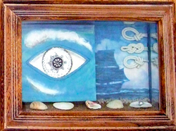 """""""SURREAL EYES ON BEACH"""" (RIGHT)"""