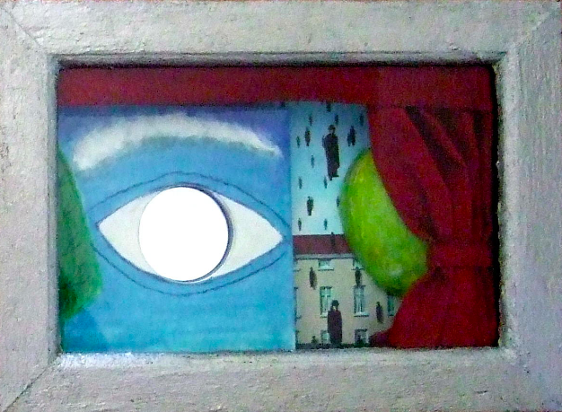 """SURREAL EYES WITH APPLE"" (RIGHT)"