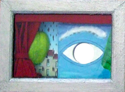 """""""SURREAL EYES WITH APPLE"""" (LEFT)"""