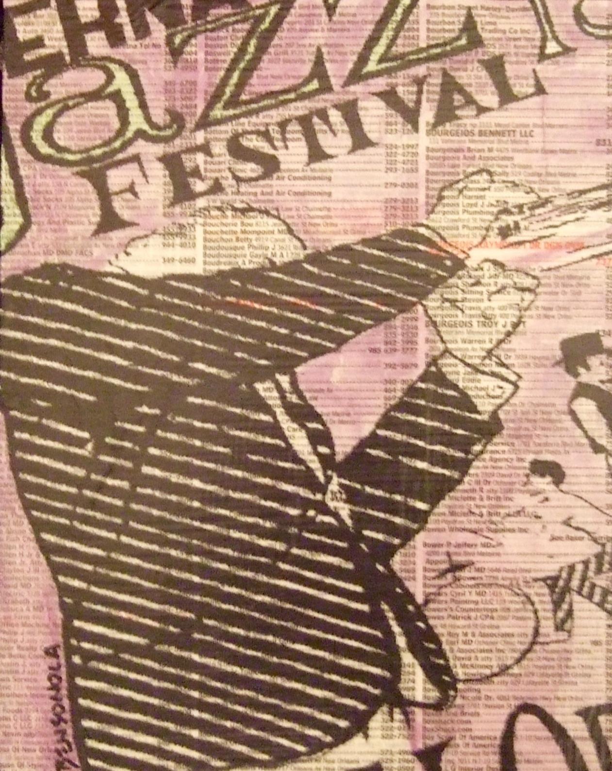 """""""VINTAGE JAZZ FEST POSTER"""""""