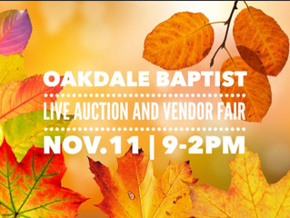 Live Auction and Vendor Fair