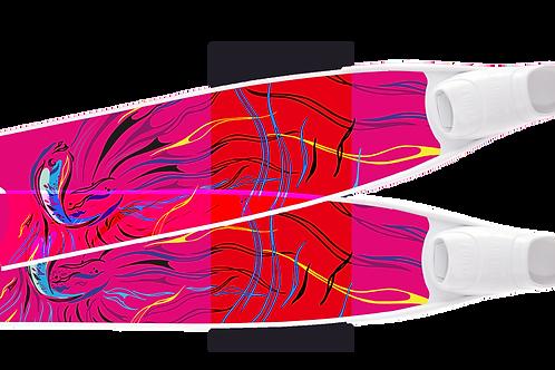 PINK FISH SEMI-TRANSPARENT BI-FINS