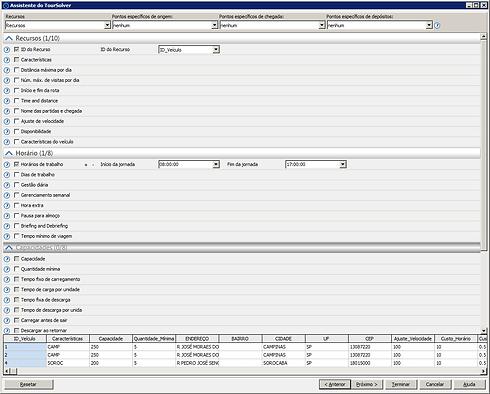 TourSolver Desktop Configuração
