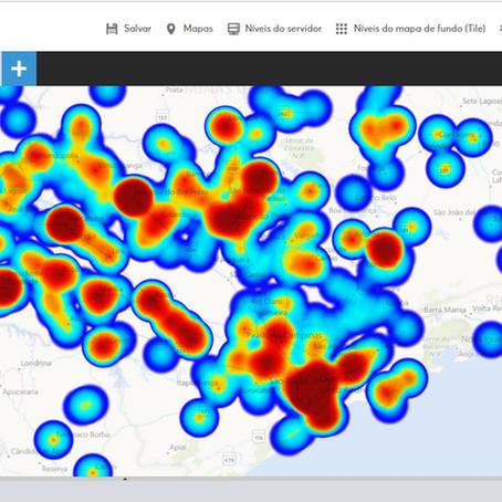 Mapas Interativos na Web:  Mapas de Calor