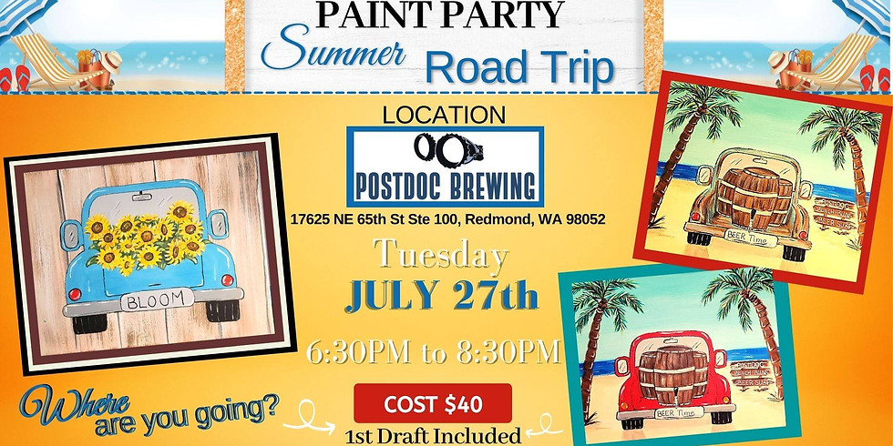 Summer Road Trip (Paint Party)