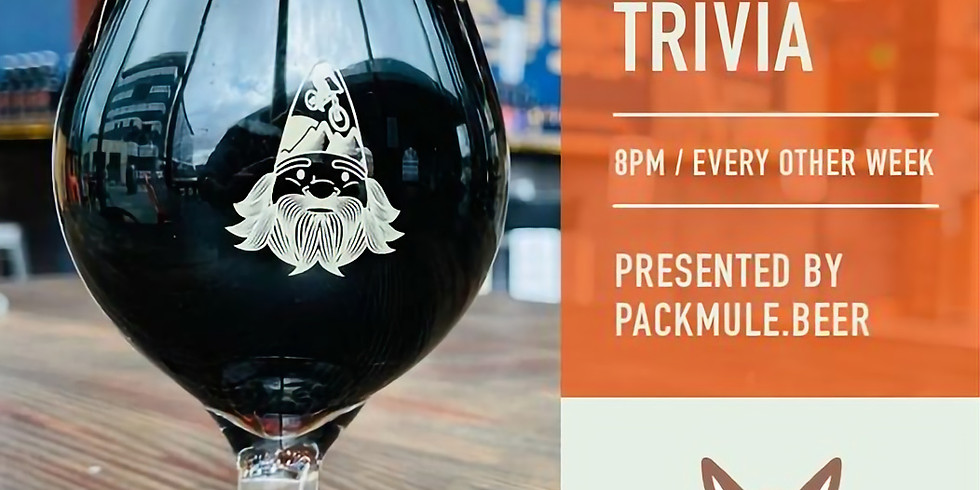 Trivia Night with Packmule.Beer