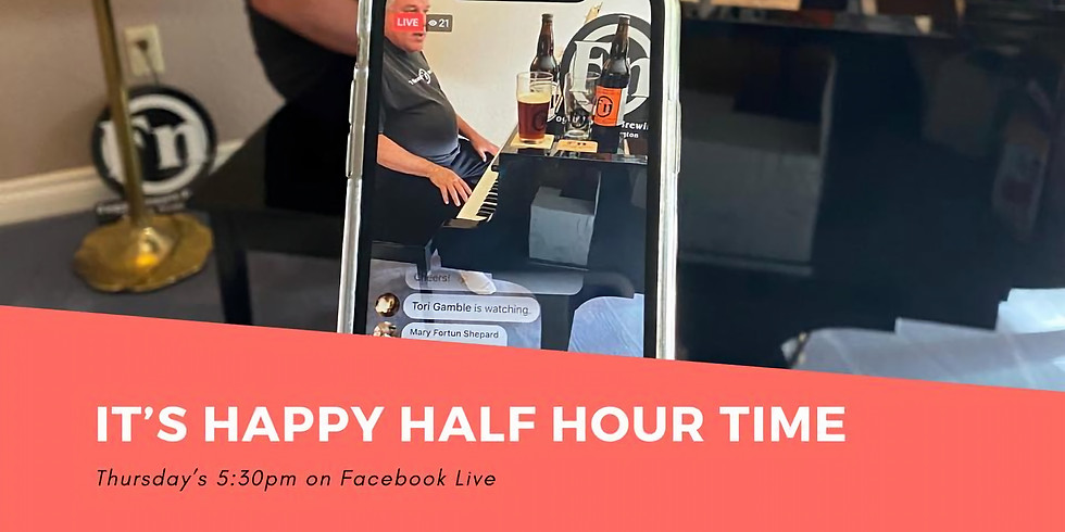 Backstage Pass - Happy (half) Hour Time!